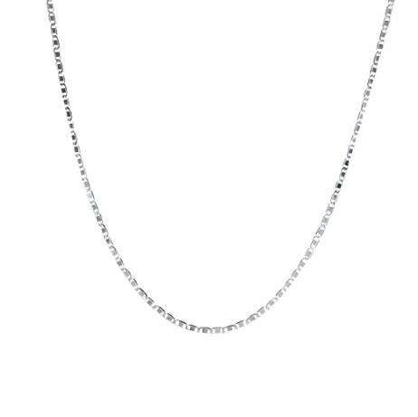 Corrente de Prata Piastrine 60 cm