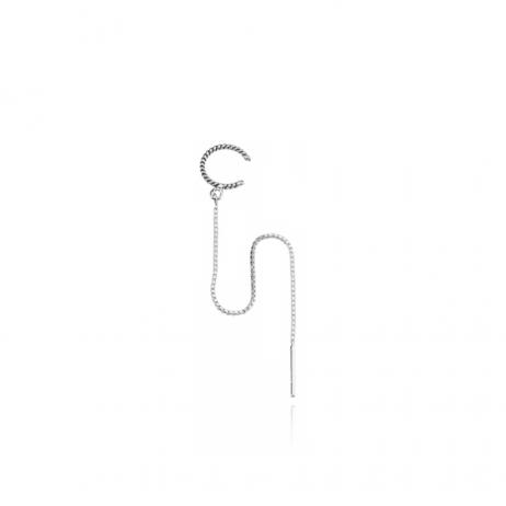 Piercing de Prata de Pressão Argola com Pino