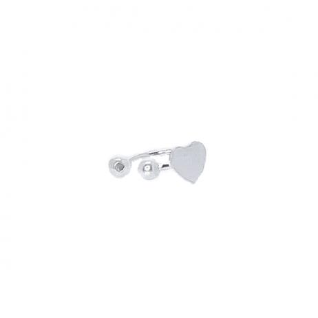 Piercing de Prata de Pressão Coração Pequeno