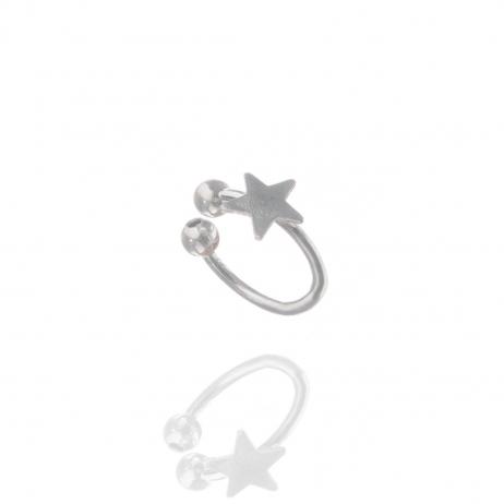 Piercing de Prata de Pressão Estrela