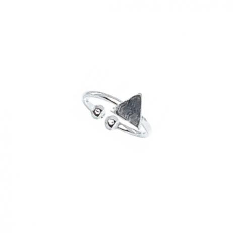 Piercing de Prata de Pressão Triângulo