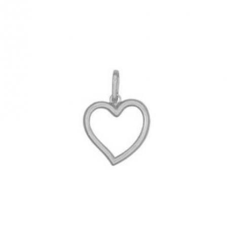 Pingente de Prata Coração Vazado
