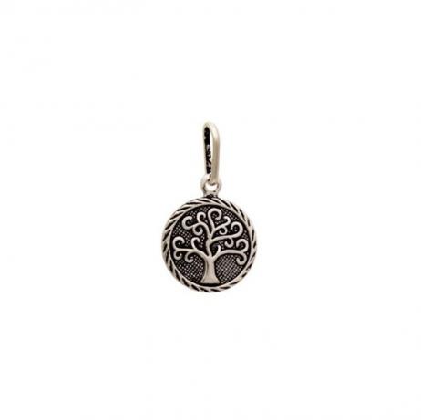 Pingente de Prata Envelhecida Árvore da Vida