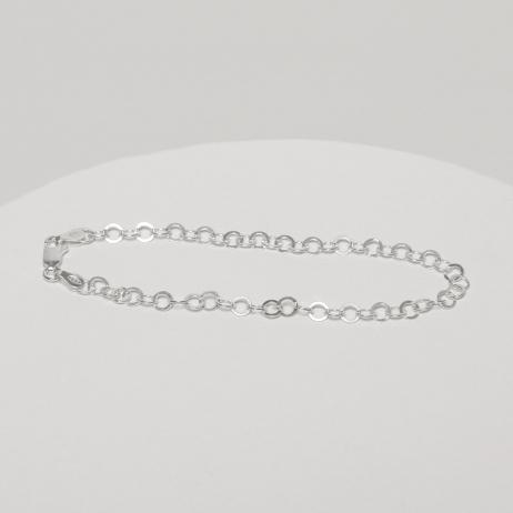Pulseira de Prata Círculo Pequenos Vazados