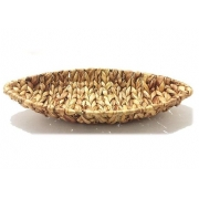 FRUTEIRA OVAL SEAGRASS NATURAL.42X20X6CM REF:20488 YAZ