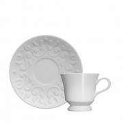 XÍCARA CAFÉ COM PIRES PORCELANA TASSEL REF:4.3993088.00 GERMER