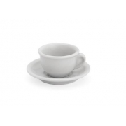 XÍCARA CAFÉ EXPRESSO COM PIRES PORCELANA BRANCA  85 ML REF:1101 GENI