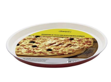 ASSADEIRA PIZZA REVESTIMENTO CERÂMICO 35CM REF:ASS1508 MIMO