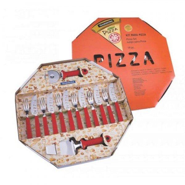 KIT PIZZA 14 PEÇAS VERMELHO REF:25099/722 TRAMONTINA