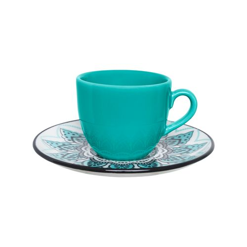 XÍCARA CAFÉ COM PIRES PORCELANA 75ML SERENE  REF:4677 OXFORD