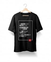 Camiseta Eu Quero Estar Neste Lugar