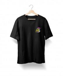 Camiseta Eu Te Amo - Megafone (Preta)