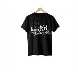 Camiseta Para Que Entre o Rei da Glória (Preta)