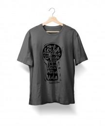 Camiseta Uma Coisa (Cinza Mescla)