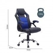 Cadeira Gamer Fatality Azul base Inox