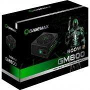 FONTE PRETA 800W GAMEMAX GM800