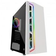 GABINETE GAMER BG-033W BRANCO BLUECASE S/ FONTE / LED RGB / USB 3.0