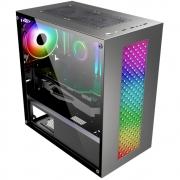 GABINETE GAMER KMEX BIFROST III RGB CG01RU MID TOWER PRETO