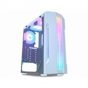 GABINETE GAMER MICRO ATX/ ATX/ ITX SEM FONTE BIFROST CG-04QI BRANCO/BARRA LED RGB K-MEX