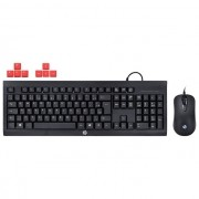 KIT Teclado e Mouse USB Gamer Km100 Preto HP Gamer