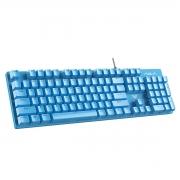Teclado Mecânico Gamer Aula S2022 104 teclas, USB com fio LED Luz de fundo Suspensão Keycap Azul Switch Mountain s2022