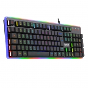 Teclado Membrana Gamer Redragon Dyaus2 RGB Preto - K509RGB PT