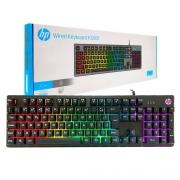 Teclado Gamer HP K500F USB Preto/RGB