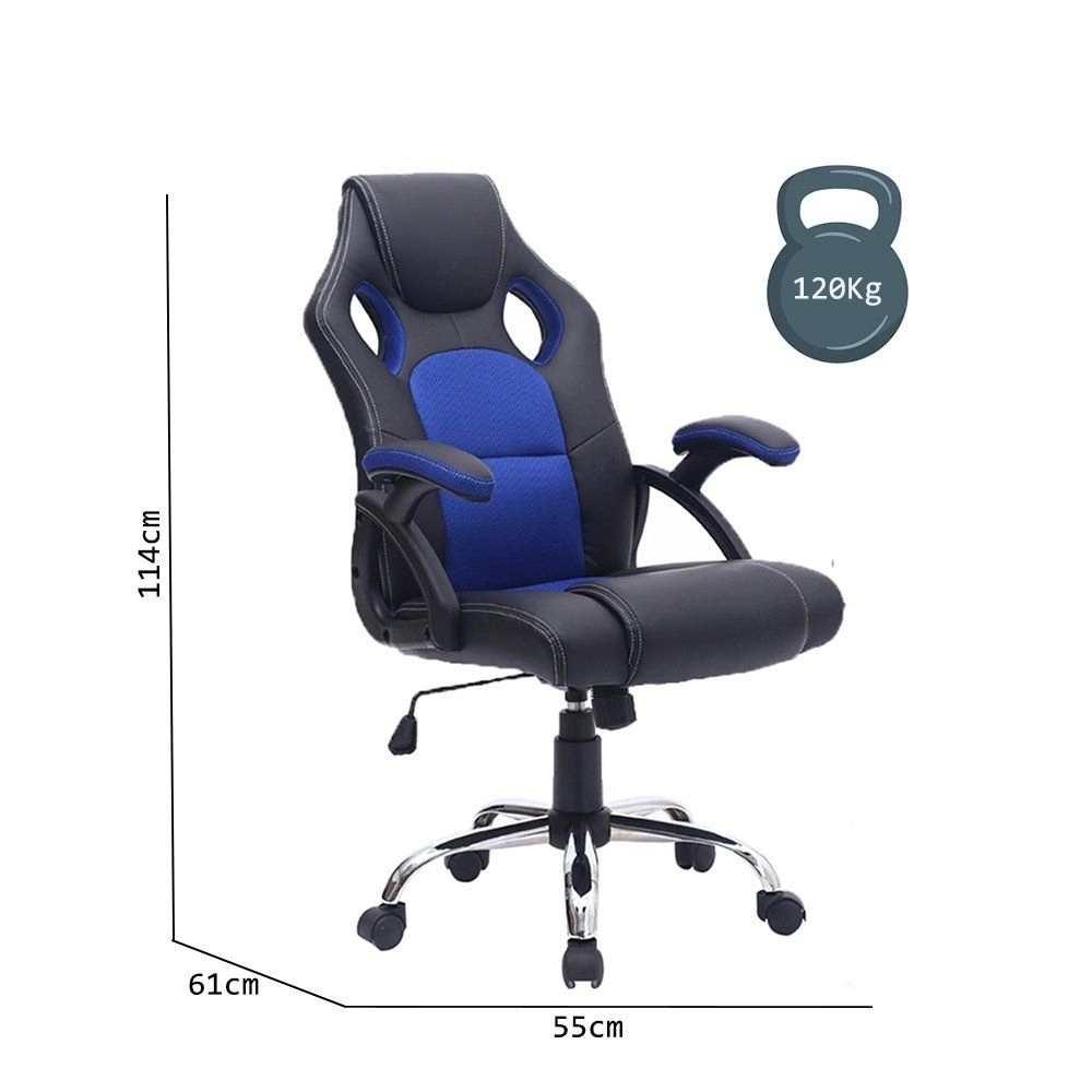 Cadeira Gamer Fatality Azul base Inox  - Fatality