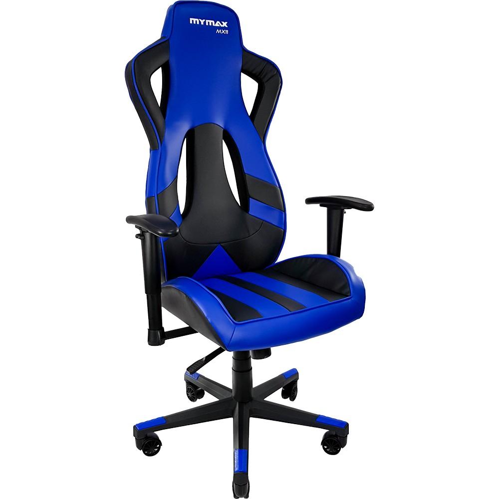 Cadeira Gamer Mymax MX11 Giratória Preto/Azul   - Fatality