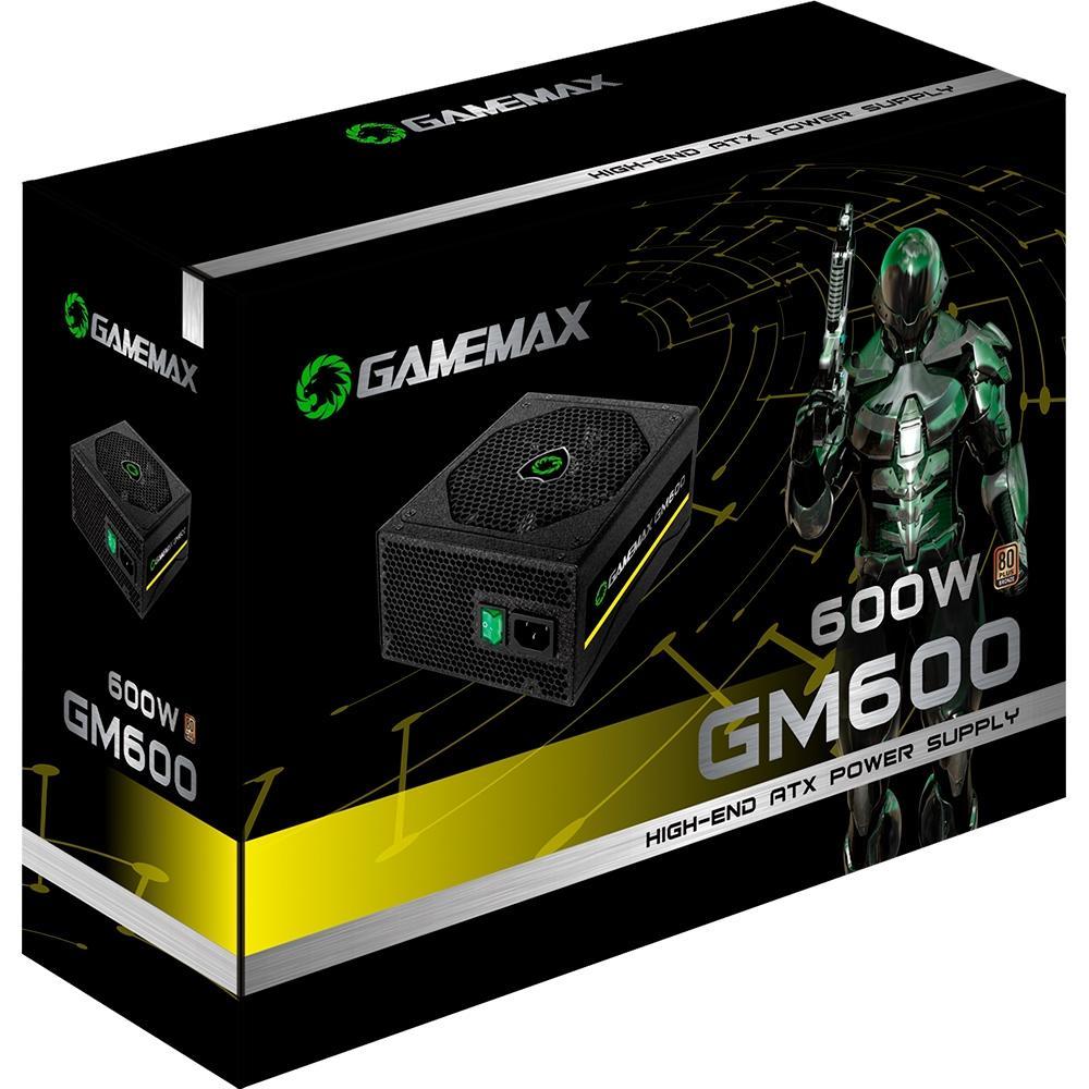 FONTE 600W GAMEMAX GM600  - Fatality