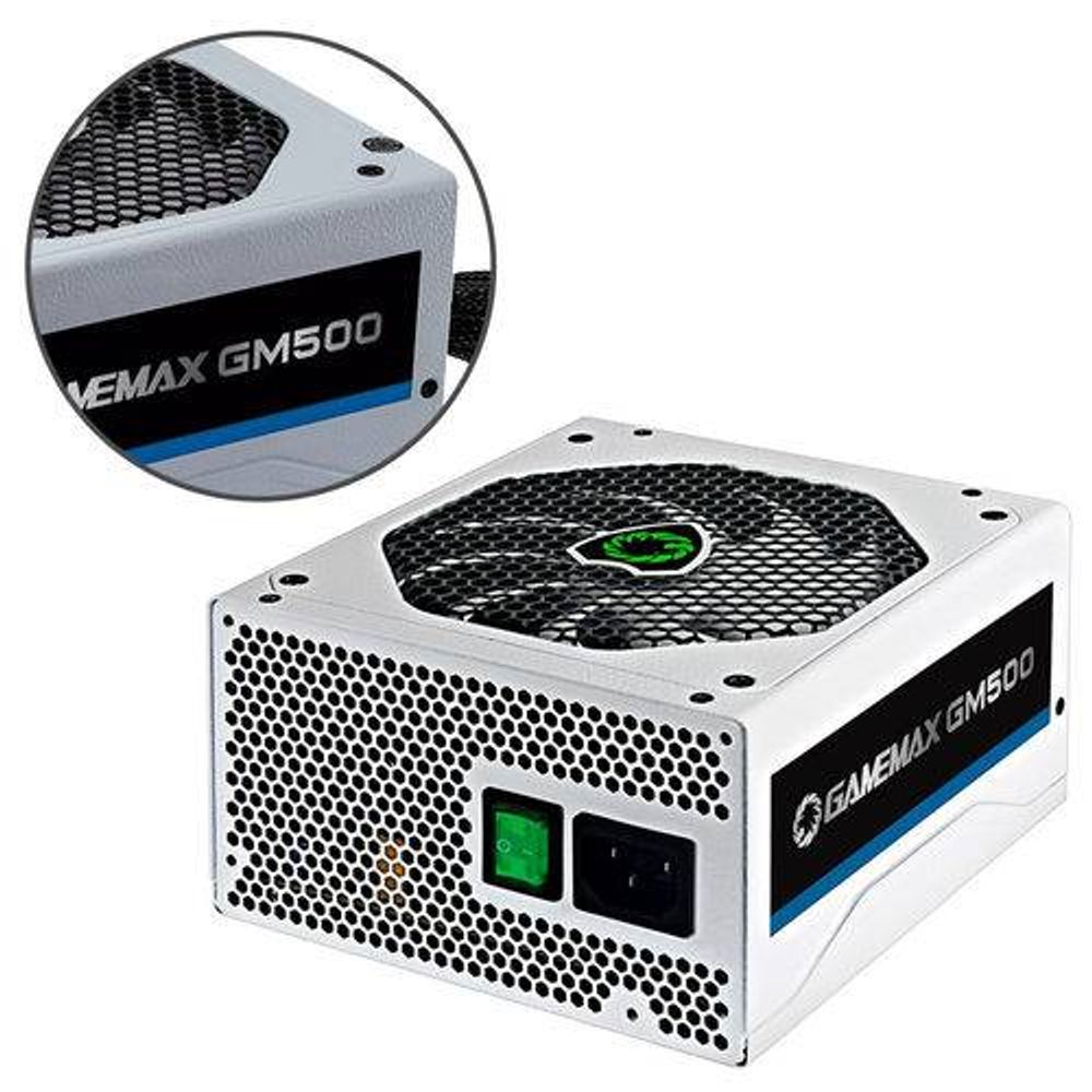 FONTE GAMEMAX GM500 BRANCA 80 PLUS BRONZE  - Fatality