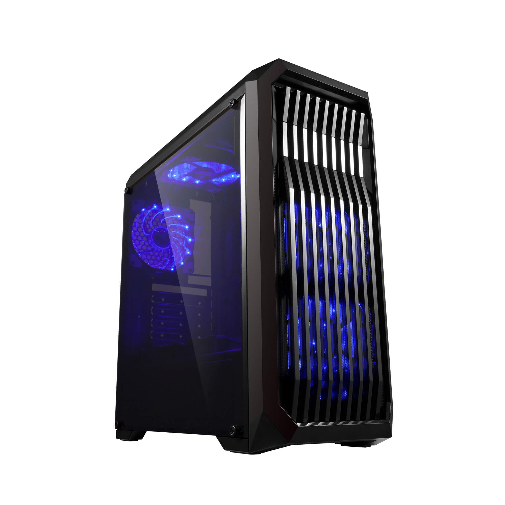Gabinete Gamer Bluecase Bg-019 Preto - S/ Fonte / Usb 3.0 Frontal  - Fatality
