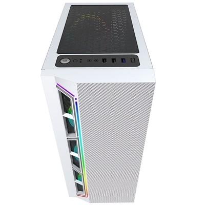 GABINETE GAMER BG-033W BRANCO BLUECASE S/ FONTE / LED RGB / USB 3.0  - Fatality