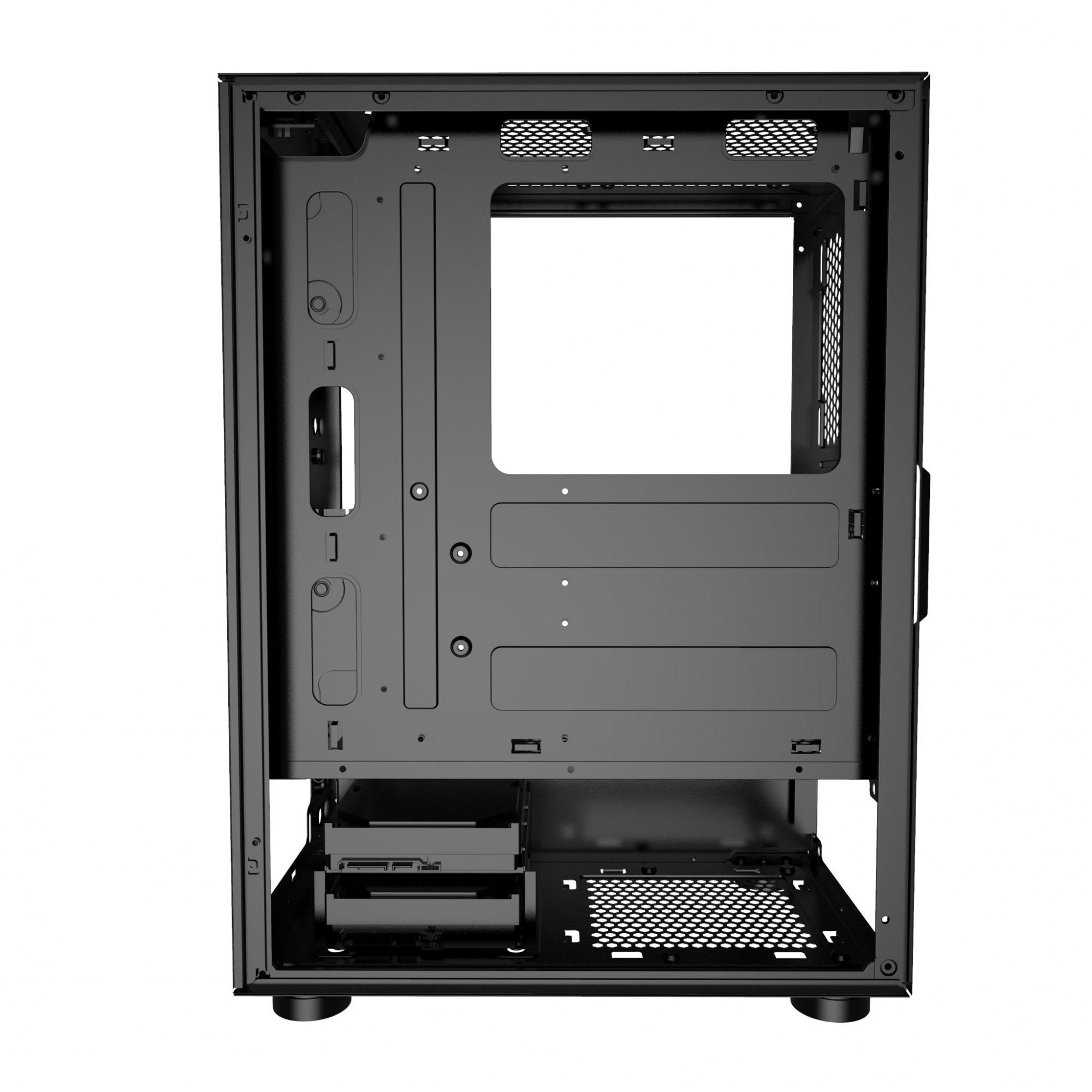 GABINETE GAMER BG-034 PULSE PRETO BLUECASE  S/ FONTE / LED RGB / USB 3.0  - Fatality