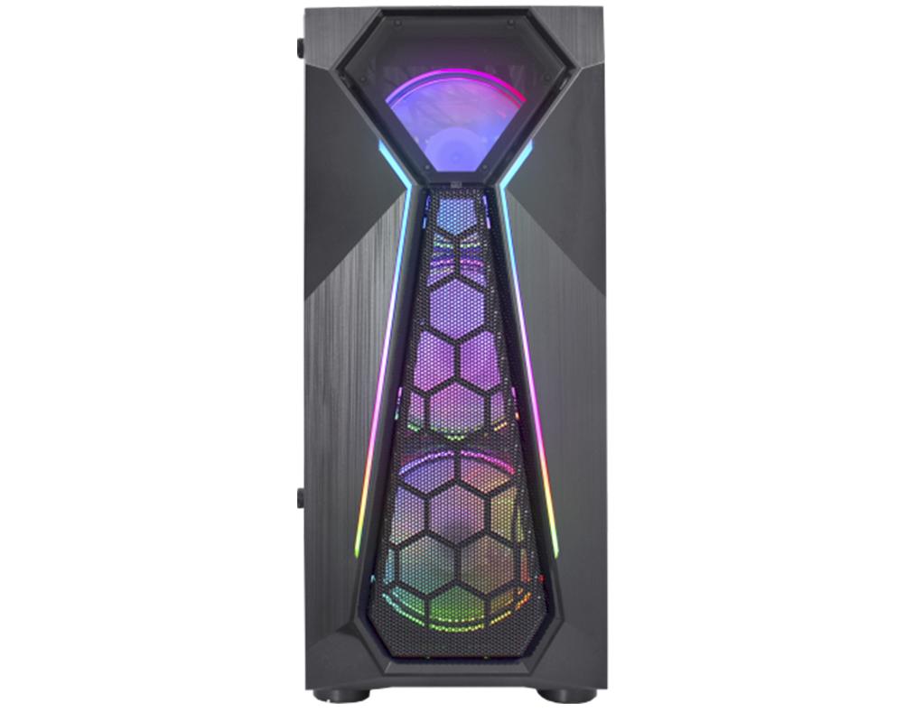 GABINETE GAMER KMEX WARLOCK CGA1D4 FITA LED RGB PRETO CGA1D4RH0010B0X  - Fatality