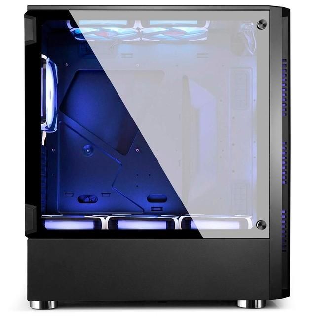 GABINETE GAMER WOLF BG-026 PRETO BLUECASE S/ FONTE / USB 3.0  - Fatality