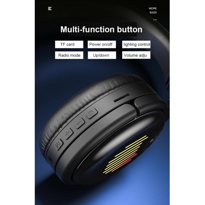 Headset Bluetooth Fatality Gamer RGB com microfone TM-061  - Fatality