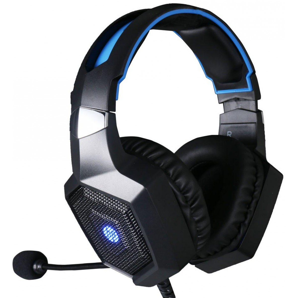 HEADSET GAMER USB H320GS 7.1 LED AZUL HP  - Fatality