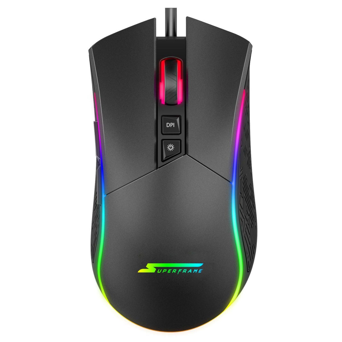 MOUSE GAMER SUPERFRAME BOSS 10000 DPI RGB 7 BOTOES  - Fatality