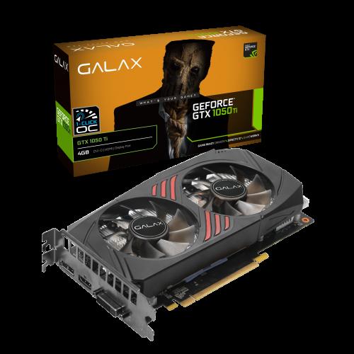 PLACA DE VIDEO GALAX GEFORCE GTX 1050 TI 1 CLICK OC 4GB - GDDR5 - 128 BITS - HDMI/DISPLAYPORT/DVI - 50IQH8DSQ3DD  - Fatality