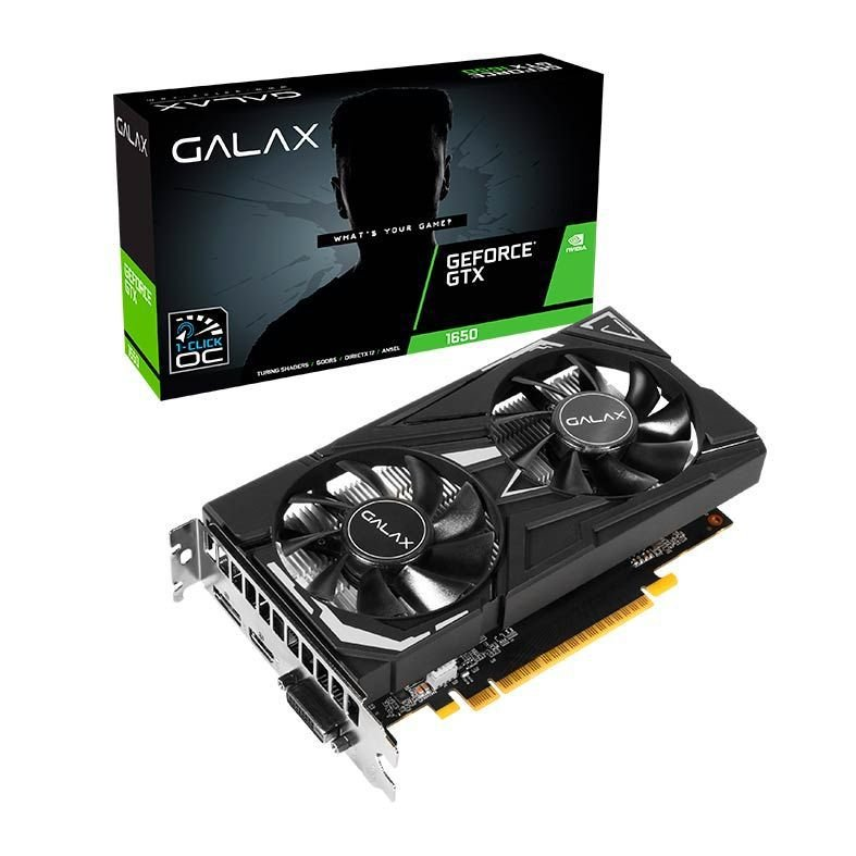 PLACA DE VÍDEO GALAX GEFORCE GTX 1650 EX PLUS 1CLICK OC 4GB. DDR6  - Fatality