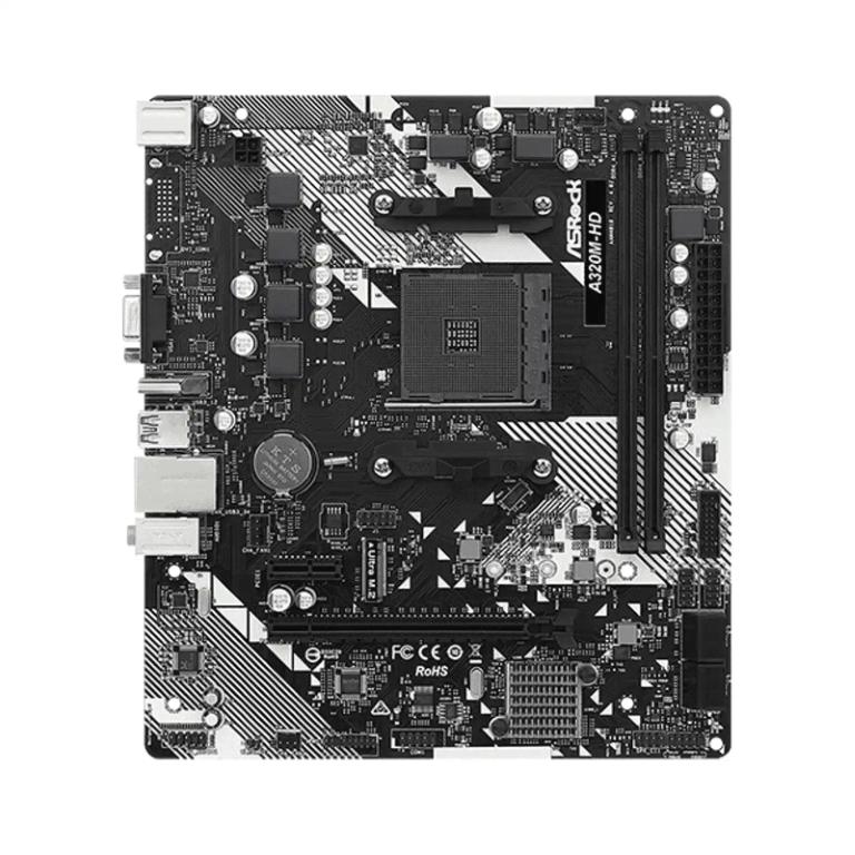 PLACA MAE AMD ASROCK A320MHD R4 DDR4 AM4 90MXBED0A0BAYZ  - Fatality