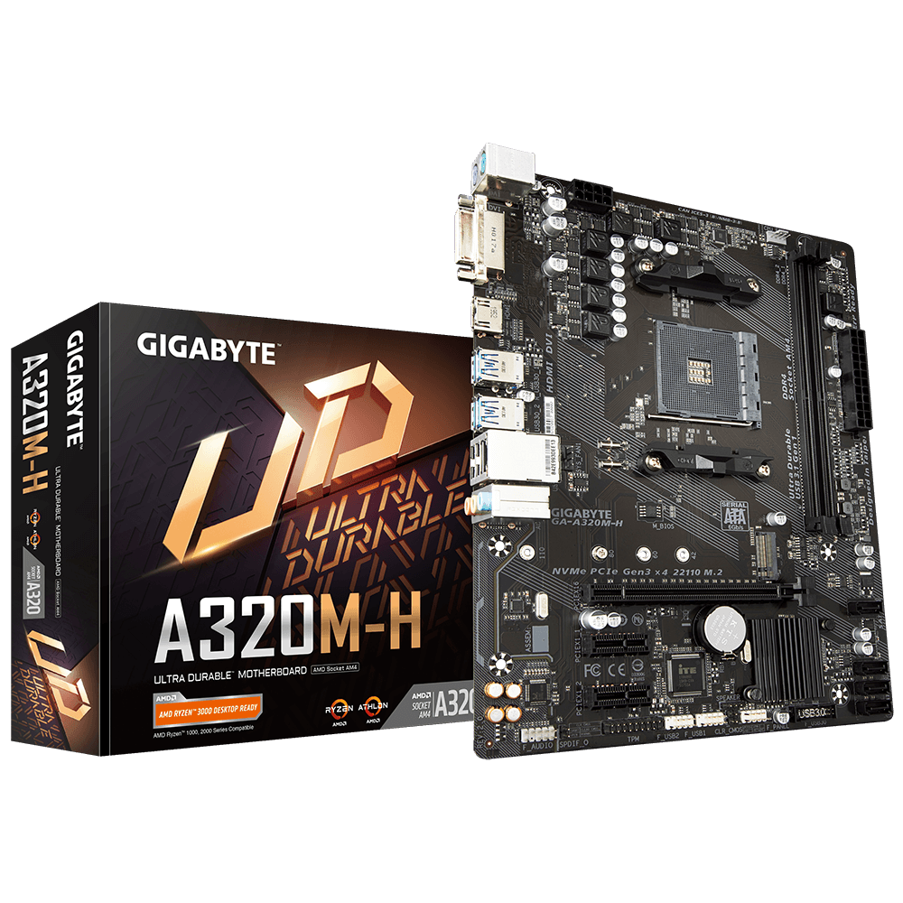 PLACA MAE AMD GIGABYTE  A320MH DDR4 AM4 REV 20  - Fatality