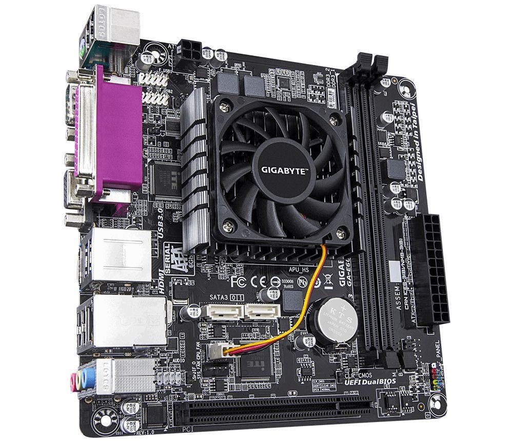 PLACA MAE AMD GIGABYTE GA E6010N 135GHz 2MB CACHE DDR3  - Fatality