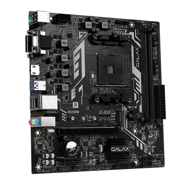 PLACA MAE GALAX B550M - AMD AM4 - M.2 - AB550MAGCHY1CW  - Fatality