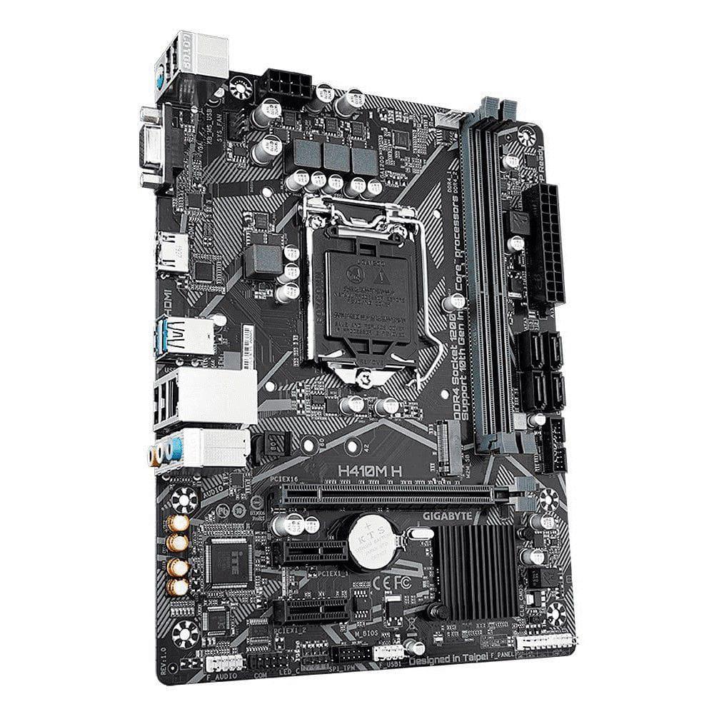 PLACA MÃE GIGABYTE  H410M H (LGA 1200/DDR4/HDMI/VGA/M.2/USB3.2)  - Fatality