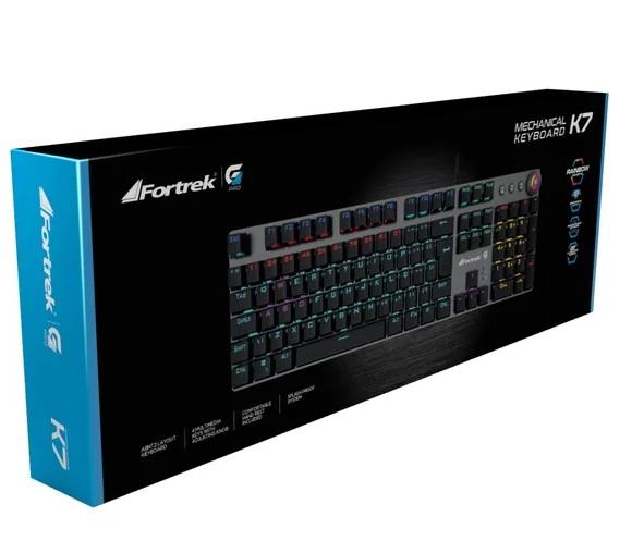 Teclado Mecânico Gamer Fortrek Gpro K7 Rainbow - 67702-K7  - Fatality
