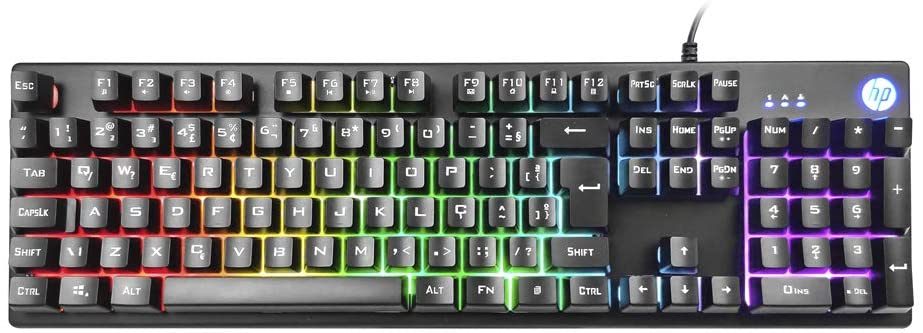 Teclado Gamer HP K500F USB Preto/RGB  - Fatality