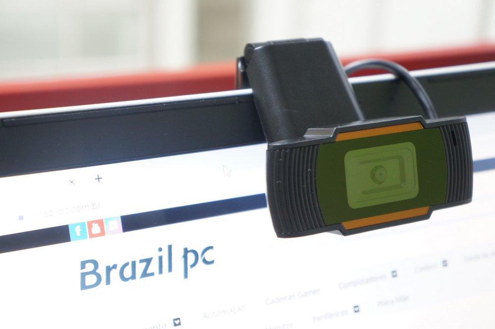 WEBCAM BRAZILPC V5 HD 720P C/ MICROFONE PRETO/ LARANJA BOX   I  - Fatality