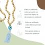 Japamala 108 contas de Madeira e Cristal